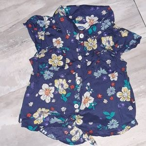 Old Navy Girls Floral Shirt
